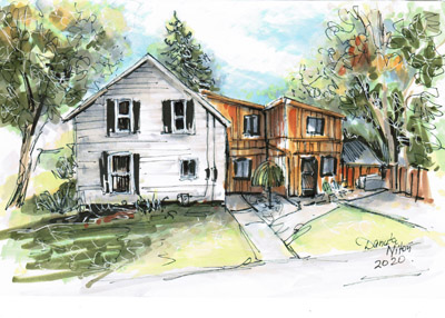 house sketching multimedia